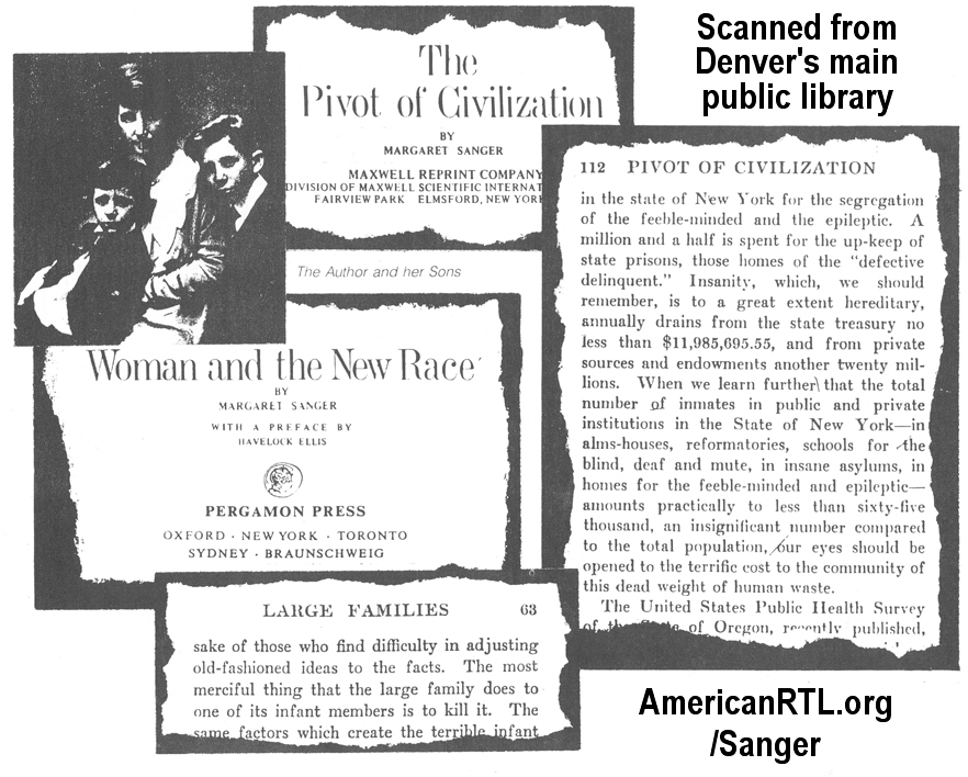 """margaret sanger negro project In a letter to dr clarence gamble in december, 19, 1939, sanger exposited her vision for the """"negro project,"""" a freshly launched collaboration between the american birth control league and sanger's birth control clinical research bureau."""
