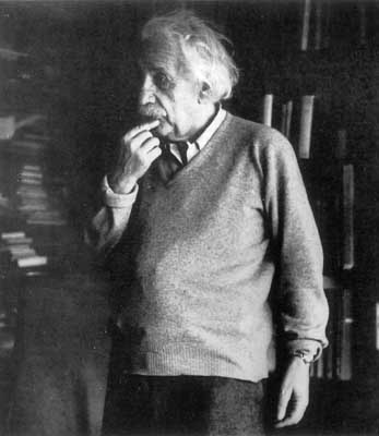 Albert Einstein, perplexed